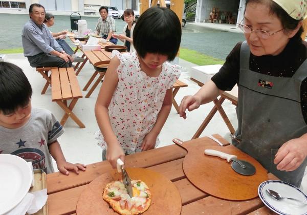 石窯ピザ焼き体験